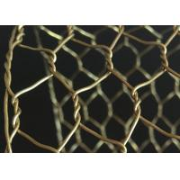 China Rugged Decorative Concertina Hexagonal Wire Mesh Cooper Brass Twist Anti Oxidation wholesale