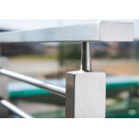 China Firmness Stainless Steel Railing / Steel Stair Railing Width Not Exceed 95MM on sale
