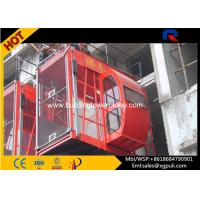 China Twin Cage 2.4m Cage height construction passenger hoist With Mast Sections wholesale