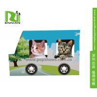 Wholesale Environmental indoor corrugated cardboard kitty house /cat bus from china suppliers