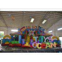 China Animal Indoor Inflatable Playground Circus Troupe With Double Slides wholesale