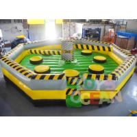 China 7 * 7m Inflatable Interactive Games inflatable Meltdown Wipeout Eliminator Sweeper Game wholesale