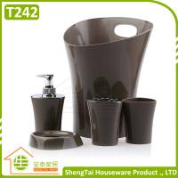 China Fashion Design Irregular Shape Metal And Plastic Bathroom Fittings Set on sale