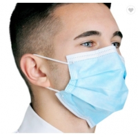 China Disposable Face Mask Blue Color With Earloop And Three Layer Protective Mask,Disposable Nonwoven Face Mask With 3 Ply wholesale