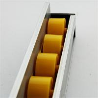 China Higher Side Aluminum Extruded Shapes Track Yellow Wheel 4 M 34mm Diameter wholesale