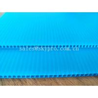 China Blue Dirt - proof Polypropylene Hollow Sheet Durable PP Corrugated Plastic Boards wholesale