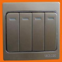 China 86# Four Gang Two Way Switch (D-8604) wholesale