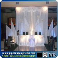China European style wedding event stage backdrop ,background new design, aluminum backdrop stand pipe drape on sale