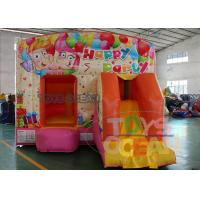 China Pink Kids Clown Inflatable Bouncer Combo For Outdoor Party Rental Using EN71-2-3 wholesale