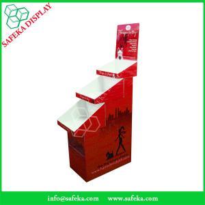 China Cardboard pop display 3 tier Customized  printed Promotion Rack Supermarket advertising shelf Cardboard trays wholesale