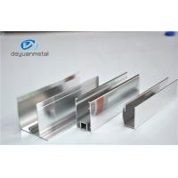 Quality Shower Enclosures Mirror Surface Extruded Aluminium Profiles With Color Silver for sale