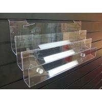China Multi-tier plastic holde / clear Acrylic Display Shelves / Racks for slatwall system wholesale