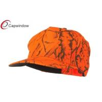 China Fluorescent Orange Brown Deer Hunting Camouflage Cap / bucket hat for men wholesale