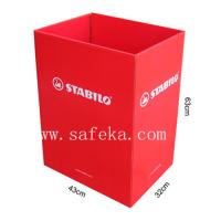 China Red Bin, Cardboard Display Dump Bin Display Stands wholesale
