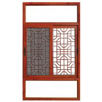 Quality Horizontal Grilled Aluminium Sliding Windows Fireproof Push - Pull Window For Room for sale