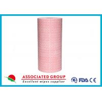 China Wavy Printing Spunlace Non Woven Roll 65GSM Household & Vehicles Cleaning Wipes wholesale