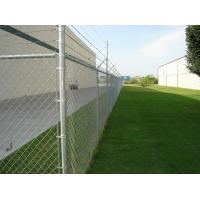 China ASTM A- 392 chain link fencing FOR SPORTS FIELD AND PLAY GROUND and garden black pvc coated chain link fence for constru wholesale