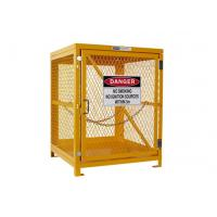 China Yellow Gas Cylinder Storage Cages Used For Gas Tank And Cylinder Locker wholesale