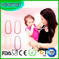 High quality silicone teething necklace for mom to wear great baby