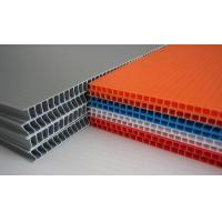 China Grey / Orange / Green Flame Retardant PP Hollow Sheet For Floor Protection wholesale