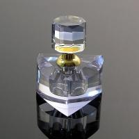 China Environment Friendly Polished Crystal Perfume Bottles With Transparent Top Cap wholesale