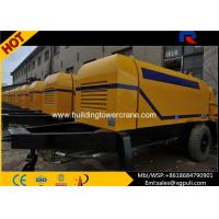 Quality Portable Concrete Stationary Pump  , Cement Mixer Trailer 0.6M3 Hopper Volume for sale
