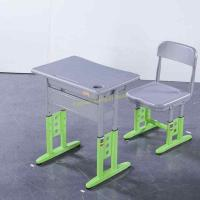 China HDPE Steel Adjustable Height Middle School Desk And Chair For Student wholesale