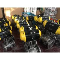 China China Stainless Steel CF8/CF8M Pneumatic Actuator Flanged Ball Valve wholesale