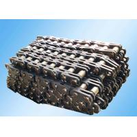 China Steel Leaf Industrial Conveyor Chain Slat Type High Strength Bright Surface wholesale
