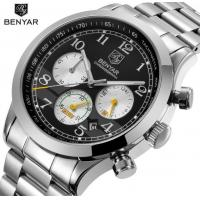 China Benyar Men Full Steel Multifunction Chronograph  Tachymeter 3 ATM Fashion Wrist Watches BY-5107 wholesale