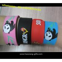 China Hot sale custom personalized slap bracelets/snap silicone wristbands wholesale