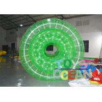 Quality 1.00mm PVC TPU Green / White Inflatable Walking Ball Water Roller For Fun for sale