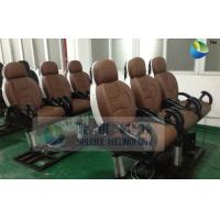 China Pneumatic Brown Color Motion Theater Chair , Leather Fiber Glass wholesale