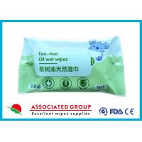China Tea - Tree Oil Natural Wet Wipes Easy Carrying With Two Years Warranty wholesale