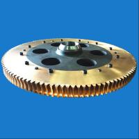 China Transmission Parts Large Diameter Forged Brass Worm Gear With Steel Hub wholesale