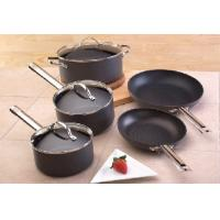 China Black Stainless Steel Cooking Pans , Nonstick Stamped Fry Pan wholesale