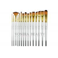 China 15 Synthetic Short Handle Art Body Paint Brushes for Acrylic , Oil  Gouache  & Face Painting on sale