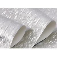 Modern removable silver color gold foil contemporary for Metallic removable wallpaper