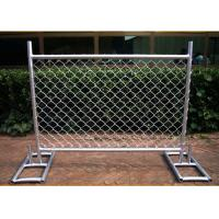 China Cross Brace Chain Link Builders Security Fencing Hot Galvanized Surface wholesale