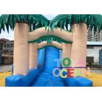 Quality PVC Summer Palm Tree Inflatable Pool Slides Water Inflatable Slide For Fun for sale