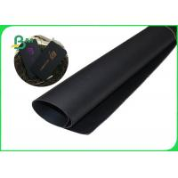 China 100% Recycled Pulp Mooth Surface Good Stiffness Black Cardboard For Packing 80 - 450g wholesale