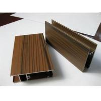 China Wooden Grain Color Aluminum Door Profile for Slid Hung Door with Punching GB/T 5237 wholesale