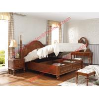 China Ancient Rome style Solid Wood Bed with Storage in Bedroom Furniture sets wholesale
