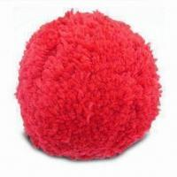 China Pom-pom/Wool Ball with 6 Bright Colors, Available in 75 and 100mm Sizes wholesale