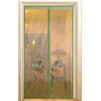 China screen door curtain with magnetic, printed with beautiful logo wholesale