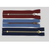 China Antique Brass Zipper Close End 4# / 3# For Jeans  , Copper Y Teethauto Lock Zipper wholesale