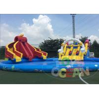 China Customize Outdoor  Inflatable Water Park Land Around 120 Players wholesale