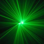Double Lens Club Laser Stage Light 30 Watt DMX Green Laser Light Two Heads