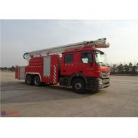 China High Strength Telescopic Crane Fire Fighting Vehicles , Heavy Duty Fire Truck Leg Action Time ≤40s wholesale