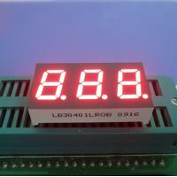 China Super Bright Red Green Blue Yellow White 3 Digit 7 Segment Led Display Common Cathode 0.40 Inch wholesale